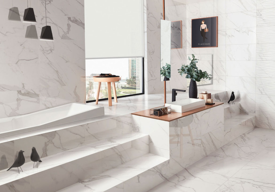 Tile or marble, which one to choose?