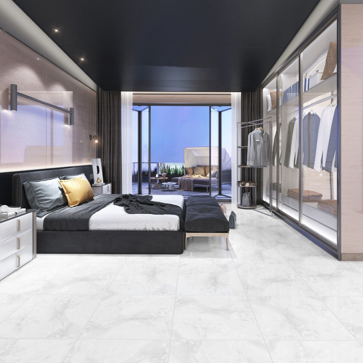 How to create a designer look with Porcelain Tiles?