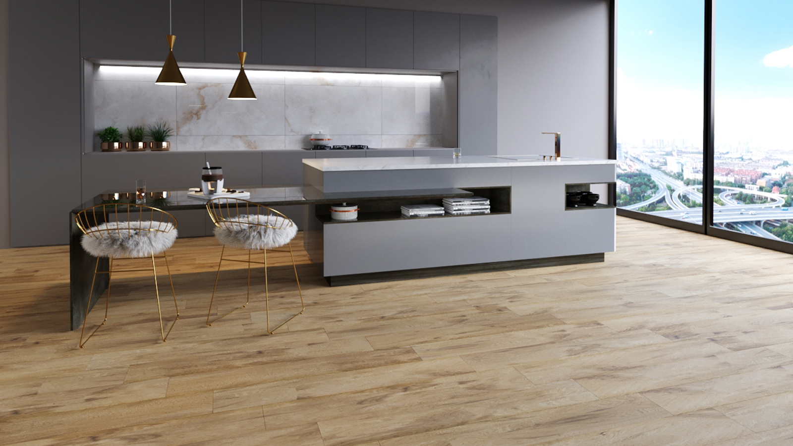 How to create a natural look with wood effect tiles?