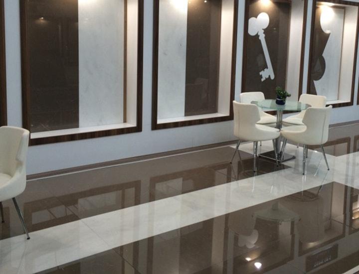 Latest Interior Design Ideas with Armani Brown Tiles